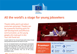 All the world's a stage for young jobseekers